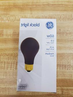 GE 60w Black Light A19 Bulb Type Medium Base 1 Specialty Bul