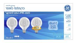 GE 60W Decorative G25 Soft White Incandescent Bulbs 3 Pack