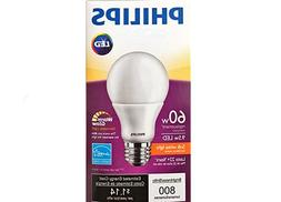 3 Bulbs - Philips 60W Equiv 9.5w A19 LED Dimmable.   Quantit