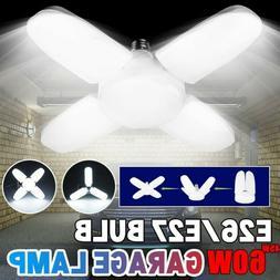 60W LED Garage Light Bulb Deformable Ceiling Fixture Lights