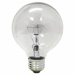 GE 64509 60 Watt G25 Decorative Globe Light Bulb Crystal Cle