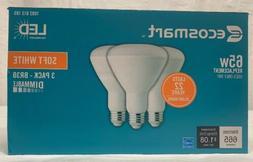 EcoSmart 65W Equivalent BR30 Soft White LED Light Bulbs - 3