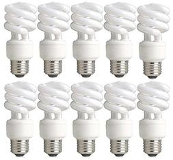 TCP 60W Equivalent CFL Mini Spring A Lamp, Daylight  Spiral