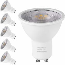 6Packs GU10 LED Bulbs  Halogen Bulbs Equivalent LED Warm Whi