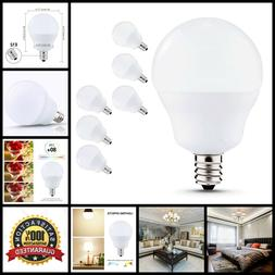 6pc Led Bulbs Candelabra Base 5W Natural Day Light For Ceili