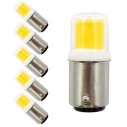 6pcs Ba15d Bayonet Base LED Bulb COB 1511 Light 110V 120V Fi