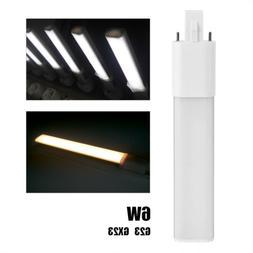 6W 2-Pin LED Compact Lamp Horizontal Recessed Tube Light Bul