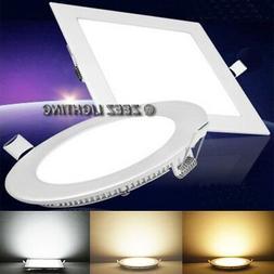 6W 9W 12W 15W 18W LED Recessed Ceiling Panel Down Lights Bul