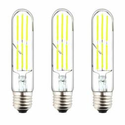 6W T10 Dimmable LED E26 Tubular Filament Edison Bulb 60W Inc