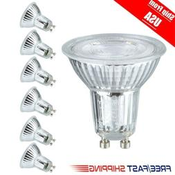 6x 5W GU10 Base LED Bulbs 6000K Daylight Spotlight 500LM Hal