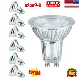 6x GU10 5W LED Light Bulbs Spotlight 6000K AC 100-240V Dimma