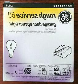 GE 72528 Rough Service light bulbs A19 130v/120v 60w/53w 2 p