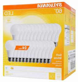 SYLVANIA 74765 A19 Efficient 8.5W Soft White 2700K, A29 LED