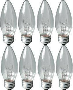 GE Lighting 76384 Crystal Clear 25-Watt, 170-Lumen Blunt Tip