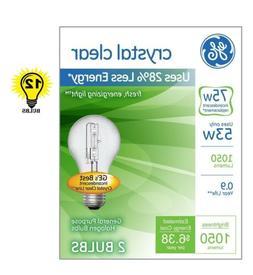 GE Lighting 78797 Energy-Efficient Crystal Clear 53-Watt  10