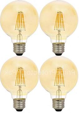 Sylvania 79601 Vintage LED Light Bulb, 40 Watt G25 Round 3