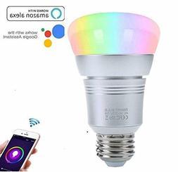 7W Smart WiFi Light Bulbs E26 Base LED Bulbs Compatible with