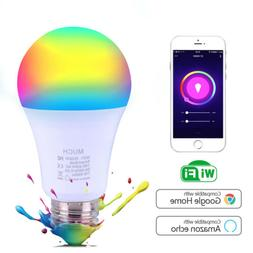 7W WiFi Smart Light Bulb Bulbs Dimmable LED E26/E27 For Goog