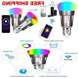 7W WIFI smart light bulb works with alexa google home no hub