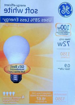 8 GE 72-Watt /100-Watt Output Soft White A19 Medium Base Lig