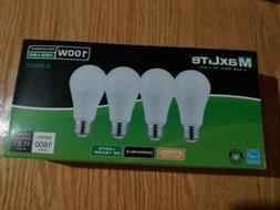 8 Bulbs LED 15W Soft White 2700K A19 100W Replacement Maxlit