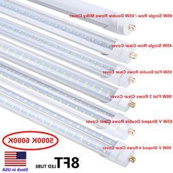 8FT LED Tube Light T8 T12 Single Pin FA8 Bulbs 45W 65W 90W 8
