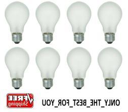 8 Pack 75 Watt Incandescent Light Bulbs 750 Lumens Rough Ser