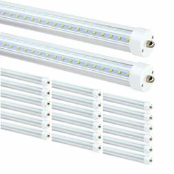 8 Pack 8FT LED Tube Light Bulbs 6000K FA8 Single Pin 45W/72W