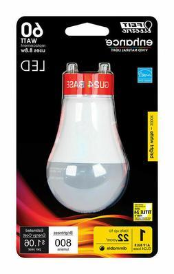 8 pack FEIT Electric 9.9 watts A19 LED Bulb 800 lumens GU24