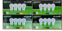 8 Pack Maxlite LED Light Bulbs 15W A19 100W Replacement Dayl