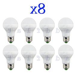 8 Pack LED Light Bulbs 25 Watt = 3 W Bright White/Cool E27 H