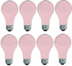 8 Ge Soft Pink 60w Light Bulb 60 97483 A19 Wedding Party Moo