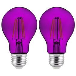 Sunlite 81081 LED Filament A19 Standard Colored Transparent