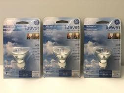 GE 82143 50-WATT REVEAL INDOOR FLOOD LIGHT GU10 1CD 3 LIGHTS