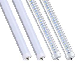 4/8/25 Pack 8FT LED Tube Light Bulbs 6000K Single Pin FA8 45