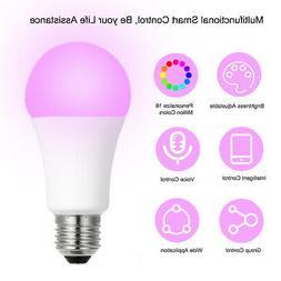 8W E27 RGBW Bulb App Control Adjustable Color and Brightnes