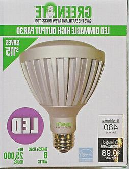 8W PAR30 3000K LED Dimmable Light Bulb Damp Location 25 Degr