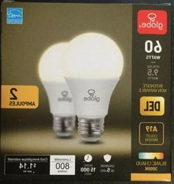 Globe 9.5 Watt LED Non-Dimmable Light Bulb  A19 3000K 60 W