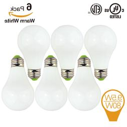 9.5W Frosted LED Light Bulbs A21 Bulb Equivalent to 80W Warm