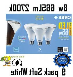 9 pack Cree 8w = 65w Soft White 2700k Br30 Dimmable LED Floo