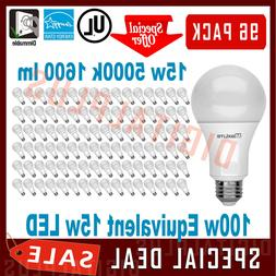 96 100W Replacement 15W LED Light Bulbs 1600L Daylight 5000K