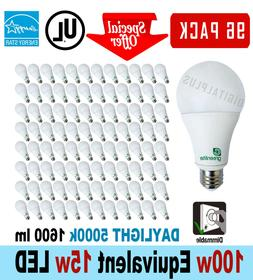 96 LED Light Bulbs 15W 100W Equivalent Daylight 5000K A19 Di