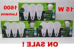 96 LED Light Bulbs GREENLITE 15W 1600 Lumens Bright White 30