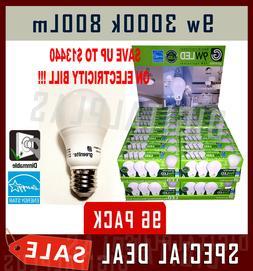96 LED Light Bulbs GREENLITE 9W 60W Equivalent Bright White