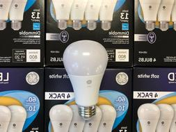 96 PACK GE LED 60W = 10W Soft White DIMMABLE 60 Watt Equival