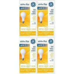 GE 97494 Soft White 3-Way 50/100/150 Watt A21 Light Bulb 4-P