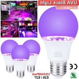 9W UV Light LED Black Light Bulbs Glow in The Dark Poster Ne