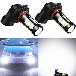 Alla Lighting H10 9145 LED Fog Light Bulbs Super Bright 9145