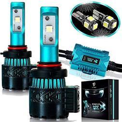 Glowteck LED Headlight Bulbs Conversion Kit - 9005 CREE XHP5