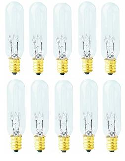 Pack of 10 Bulbs 15 Watt T6 Tubular 15T6 Light Bulb for Hima